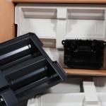 Folding cardboard box for overseas transports