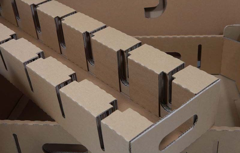 Pass-fit plug register made from corrugated board