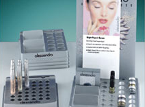 Plastic trays for the cosmetics industry