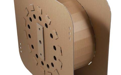 Reel body made from corrugated cardboard