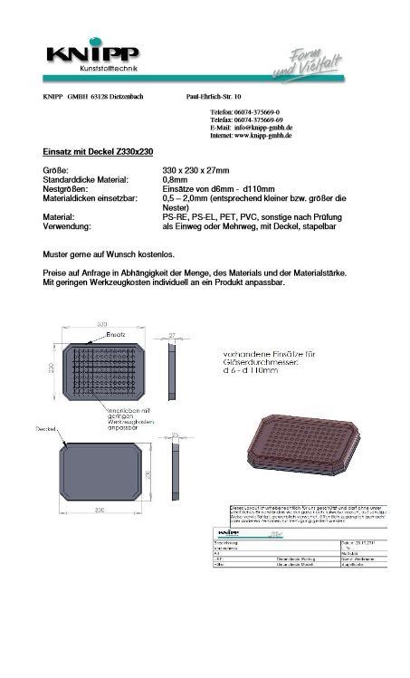 Tray with cover Z330x230